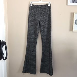 Stretchy flared bottoms